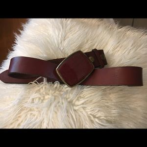 Accessories - Brown Leather Belt with gorgeous belt buckle.
